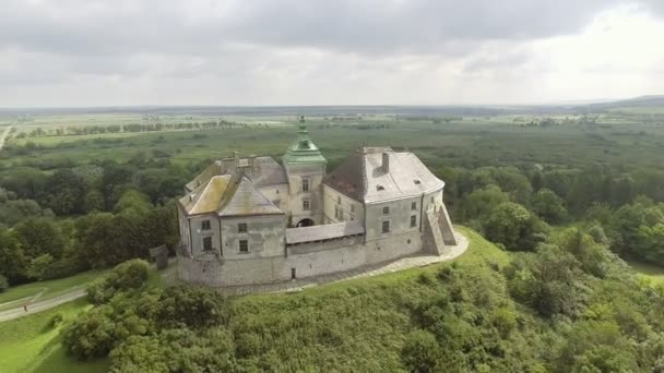 Veduta aerea del Castello di Olesko nella regione di Lviv, Ucraina