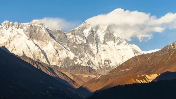 Timelapse z Mount Everest peak, Himálaj