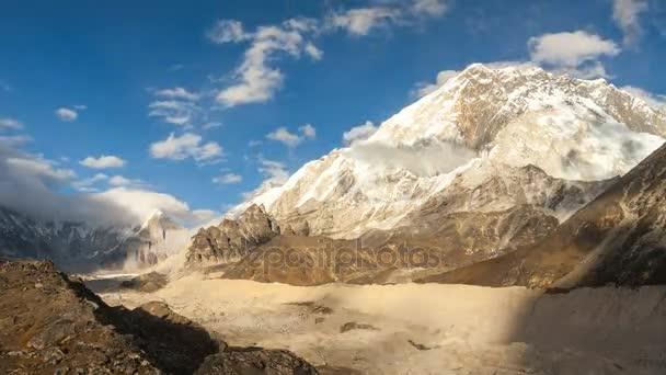 timelapse z Nuptse, Everest region, Himálaj, Nepál