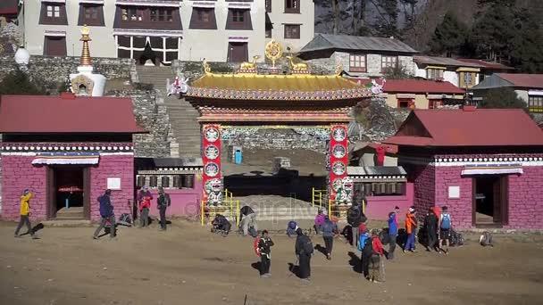 Tengboche, Nepál - 26 října 2017: Tibetský klášter Tengboche v regionu Solokhumbu Mont Everest, Nepál. Národní Park Sagarmatha - Mount Everest
