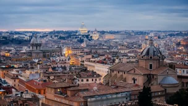 roma skyline st.peter basilika vatikanische stadt vom tiber aus gesehen