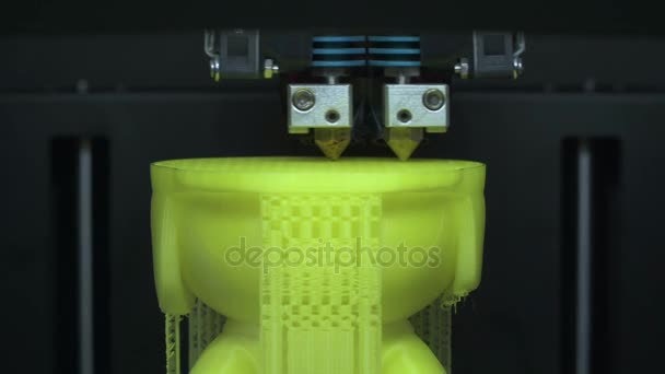 The process of printing on a 3D printer