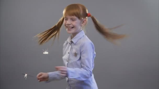 Cute little ginger girl with the sparkles
