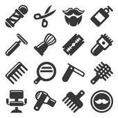 Barber shop ikony nastavit