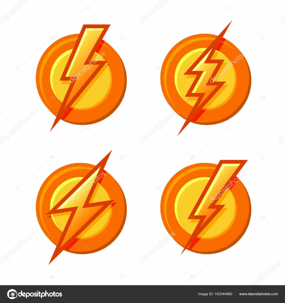 Superhero sign with lighting bolt icons set vector stock vector superhero sign with lighting bolt icons set vector stock vector buycottarizona Image collections