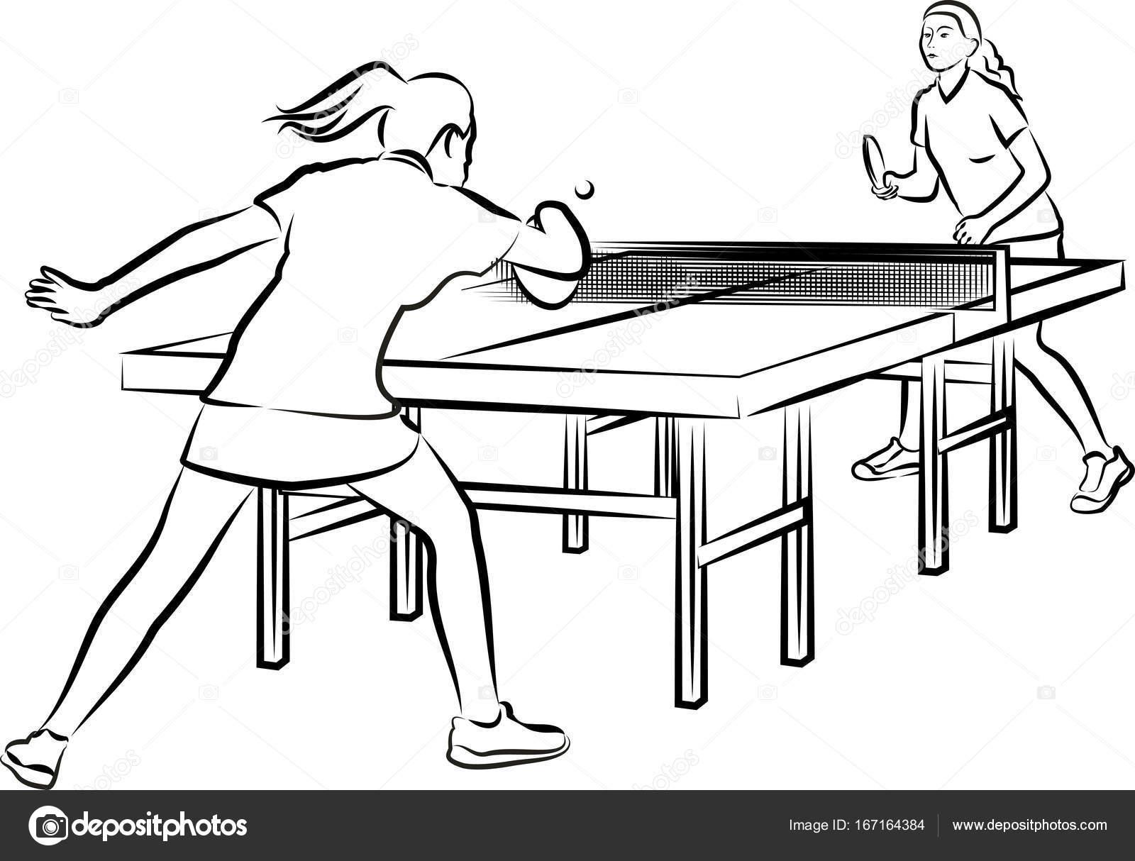 Women S Table Tennis Stock Vector 169 Ciuciumama 167164384