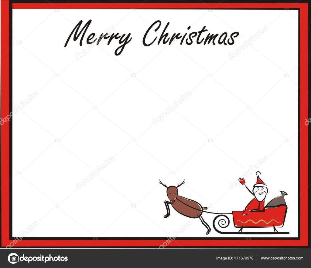 Weihnachten-Rahmen, Karte, Banner - Frohe Weihnachten — Stockvektor ...