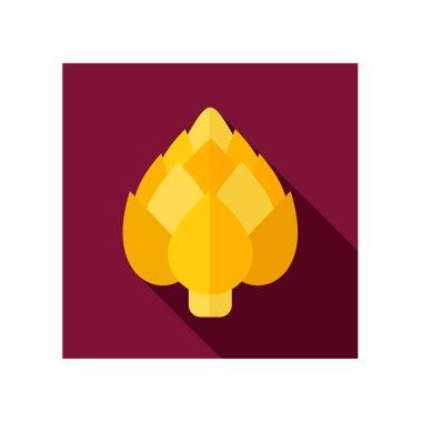 Artichoke flat icon. Vegetable vector