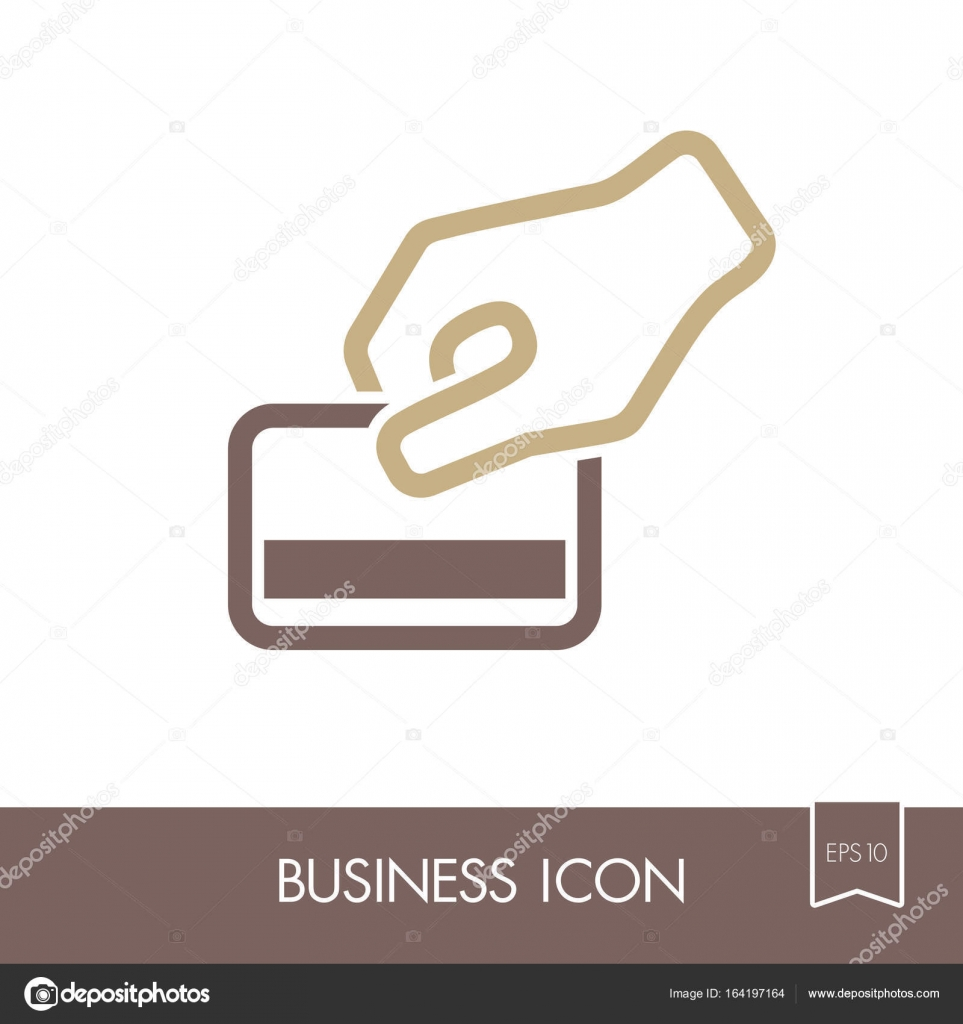 Hand swipe credit card during purchase icon — Stock Vector © ayra ...