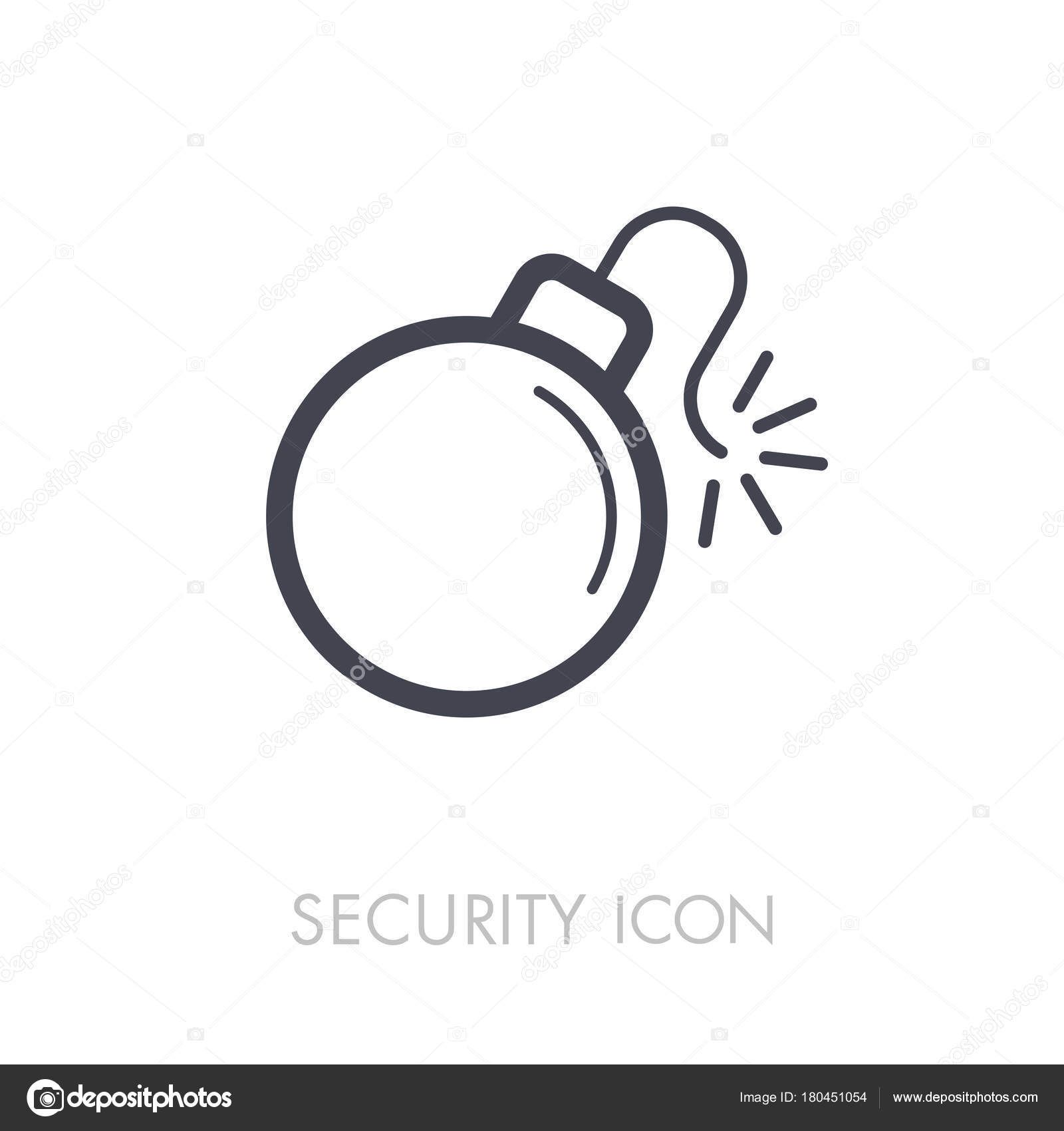 Bomb with lit fuse icon — Stock Vector © ayra #180451054