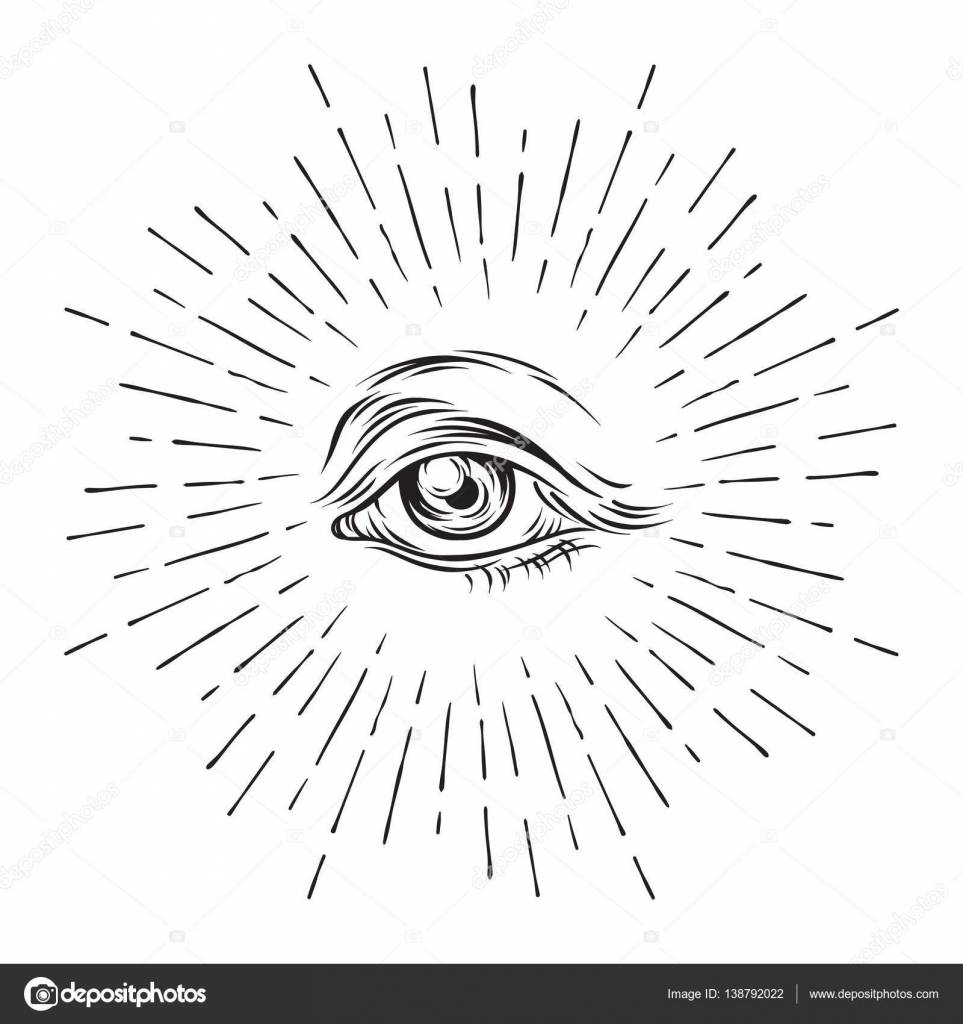Hand drawn grunge sketch eye of providence masonic symbol all hand drawn grunge sketch eye of providence masonic symbol all seeing eye buycottarizona Images