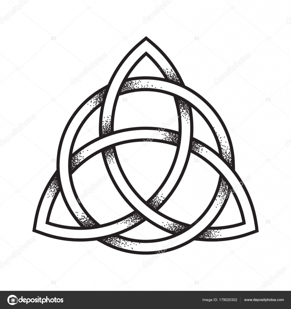 Triquetra art | Triquetra or Trinity knot  Hand drawn dot