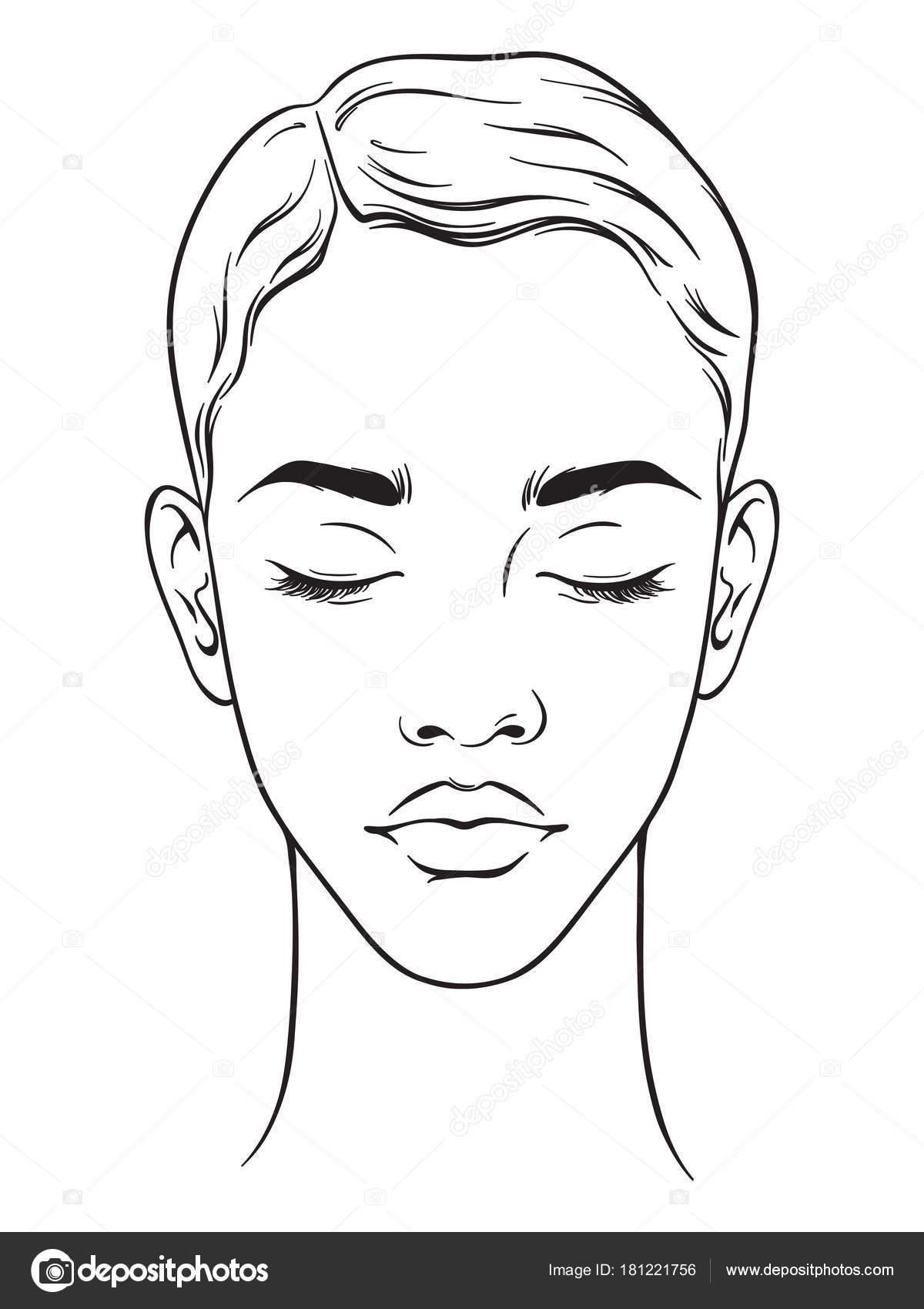Hermosa mujer afro americana con corte de pelo corto y ojos cerrados ...