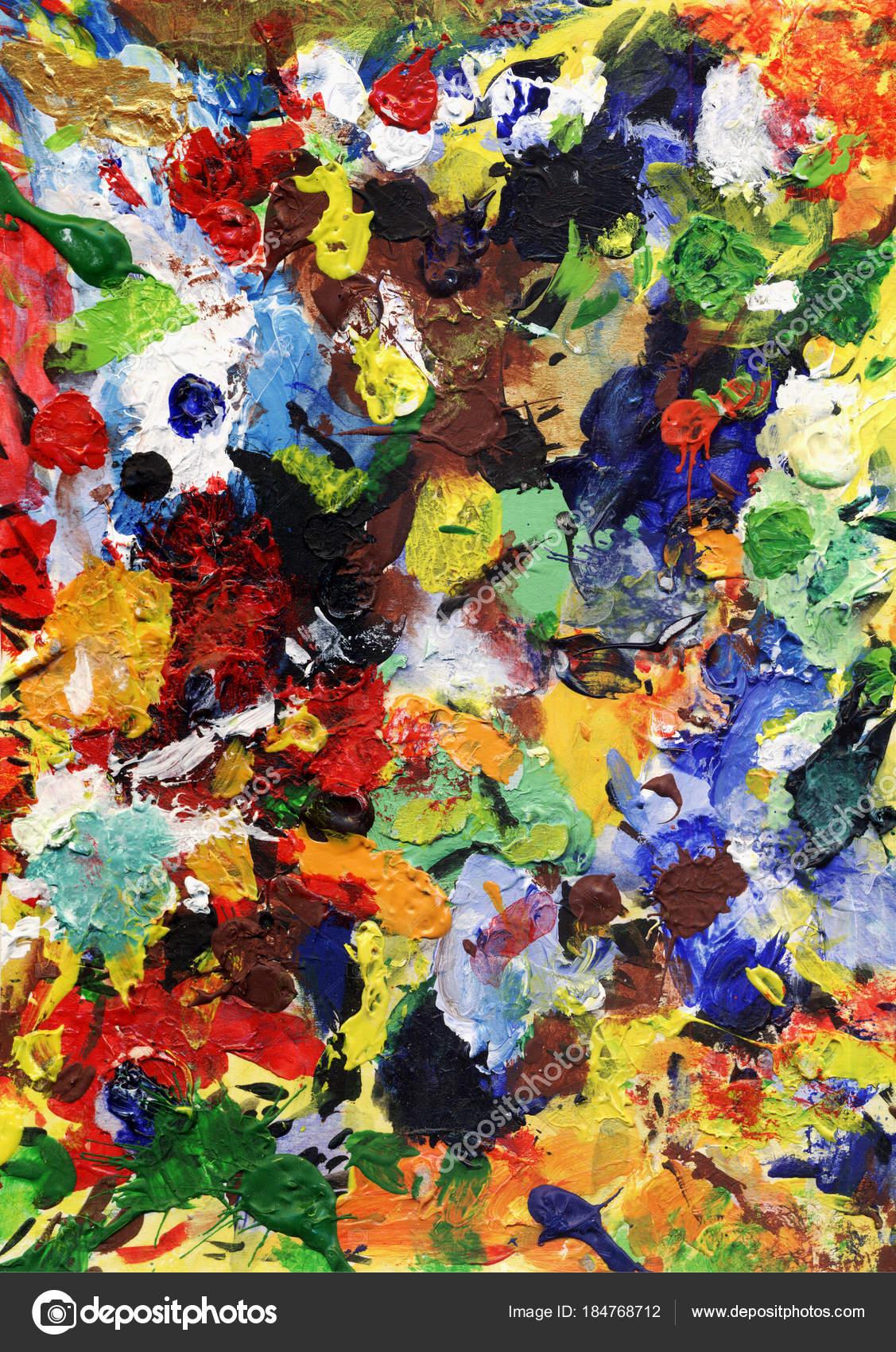 a107bec65 Experiencia Artística Pintura Colores Fantasía Impresiones Colores — Foto  de Stock