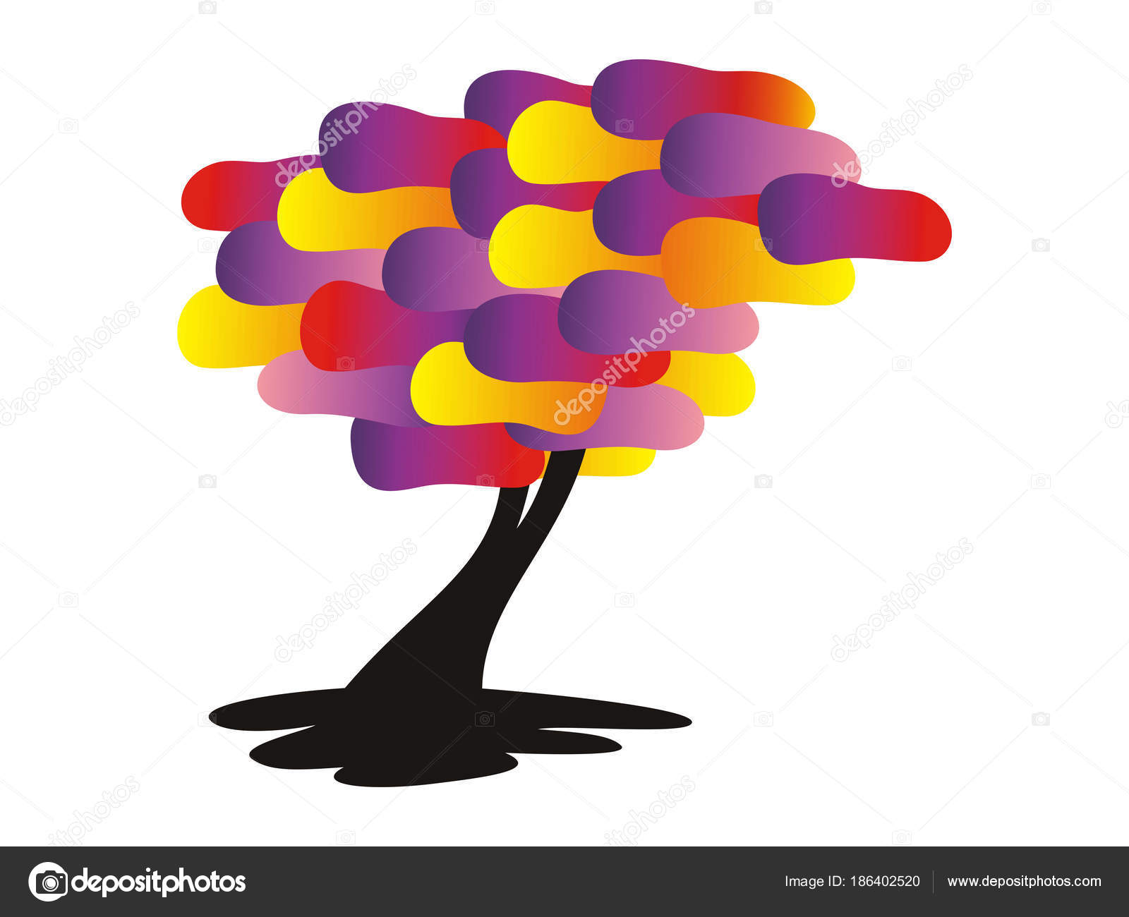 Cartoon Tree Bright Colors Yellow Blue Red Purple Tree Life Stock Photo C Alef88 186402520 Tree of life and the diamond of eternal youth prop. https depositphotos com 186402520 stock photo tree bright colors yellow blue html
