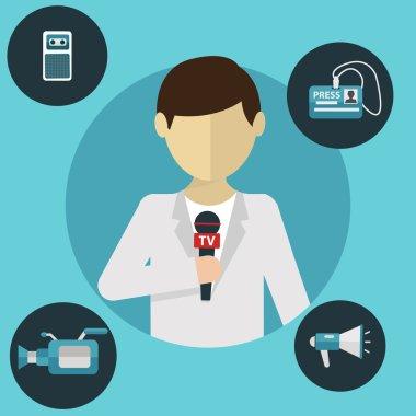 journalism, press concept