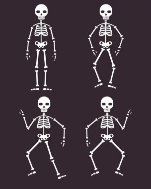 skeletons dancing banner