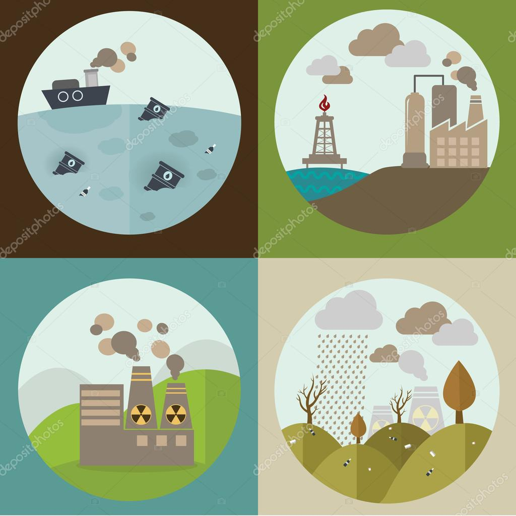 round icons of ecology