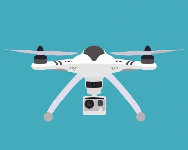 Quadrocopter flat icon