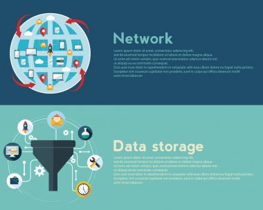 network and data storage banners