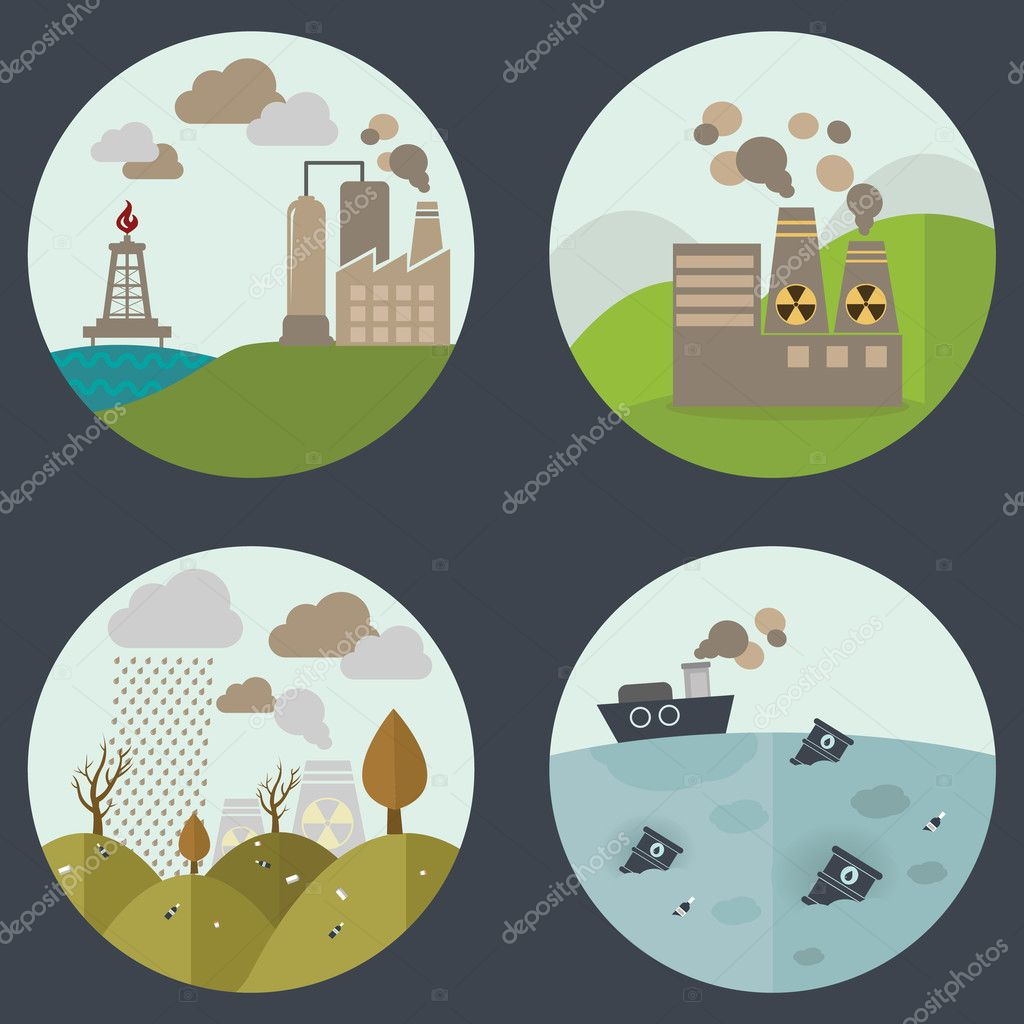 Industrial landscapes icons