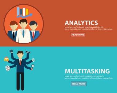 multitasking and analytics banners