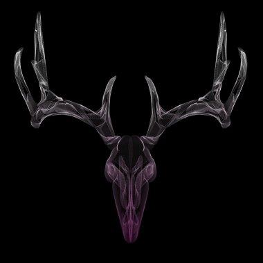 Wireframe deer skull