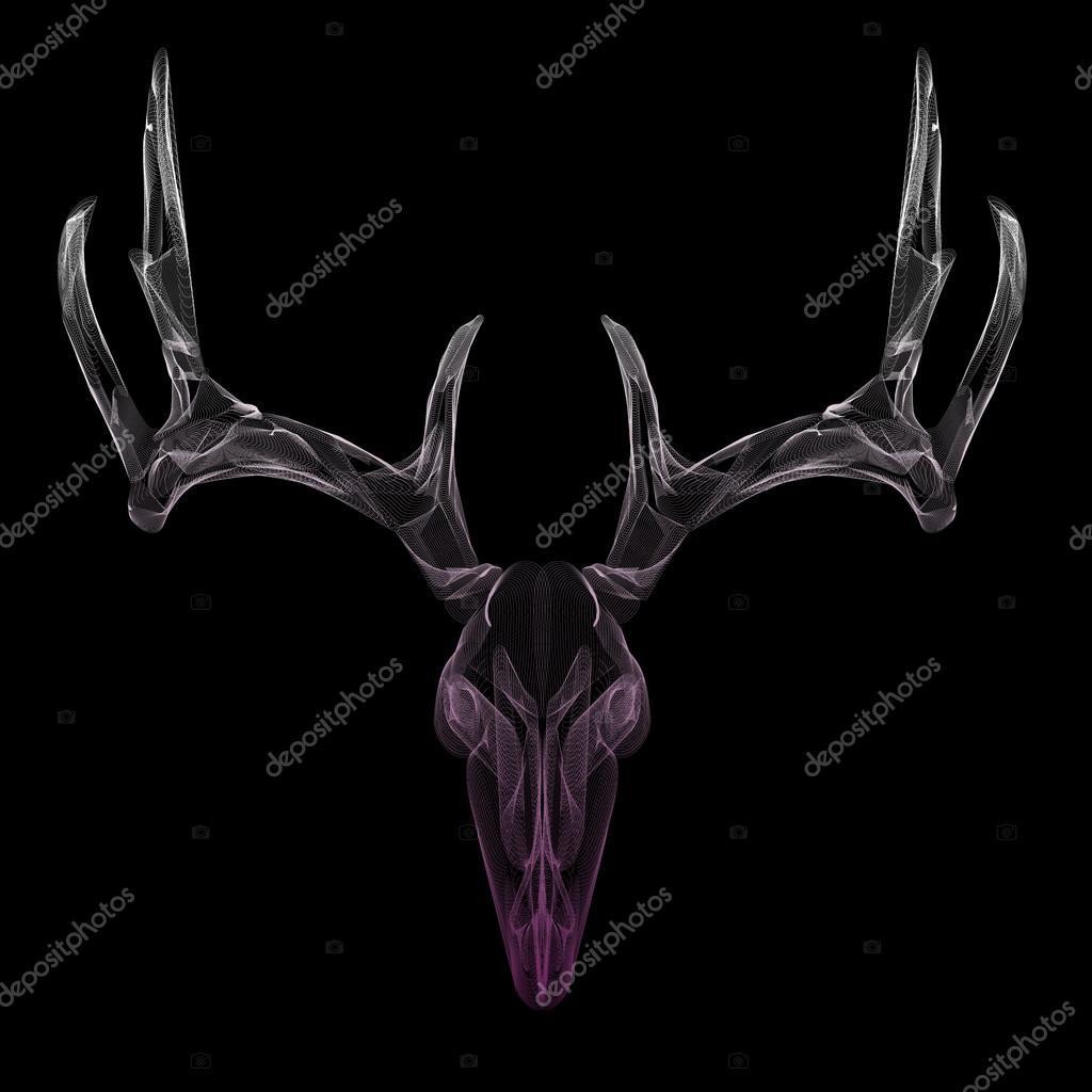 Cráneo de ciervo de estructura metálica — Vector de stock © royalty ...