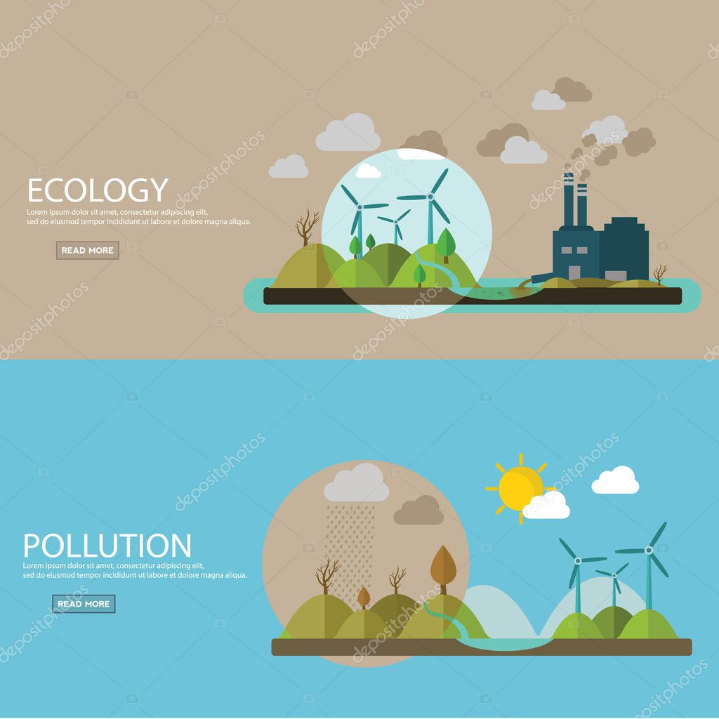 ecology and environment banners
