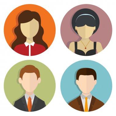 Set of avatars design