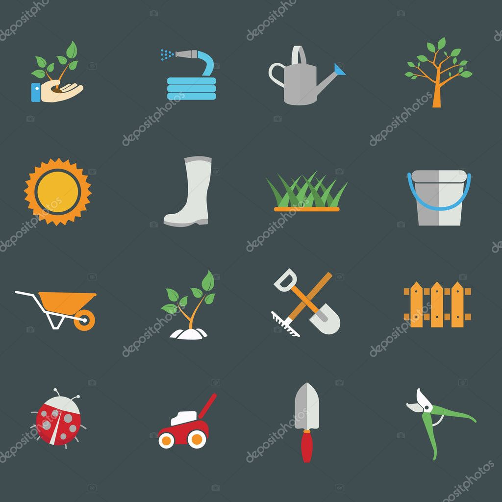 Environmental activities icons