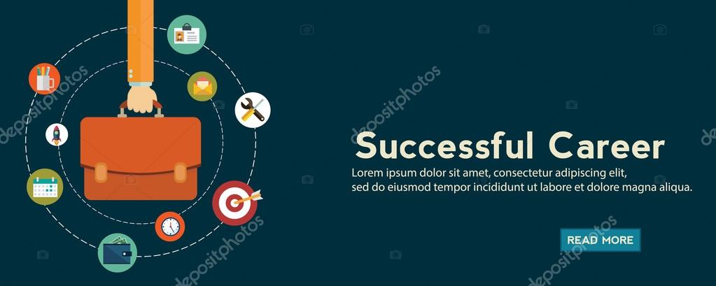 Successful Career Banner Stock Vector C Royalty 127435806