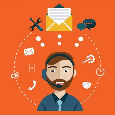 customer care service concept