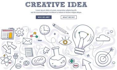 Doodle design of creative idea