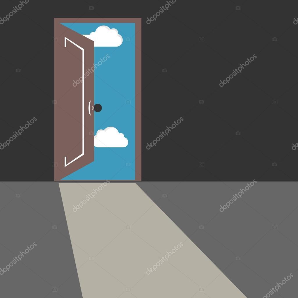 Porte de chambre gris foncé — Image vectorielle royalty © #129064814