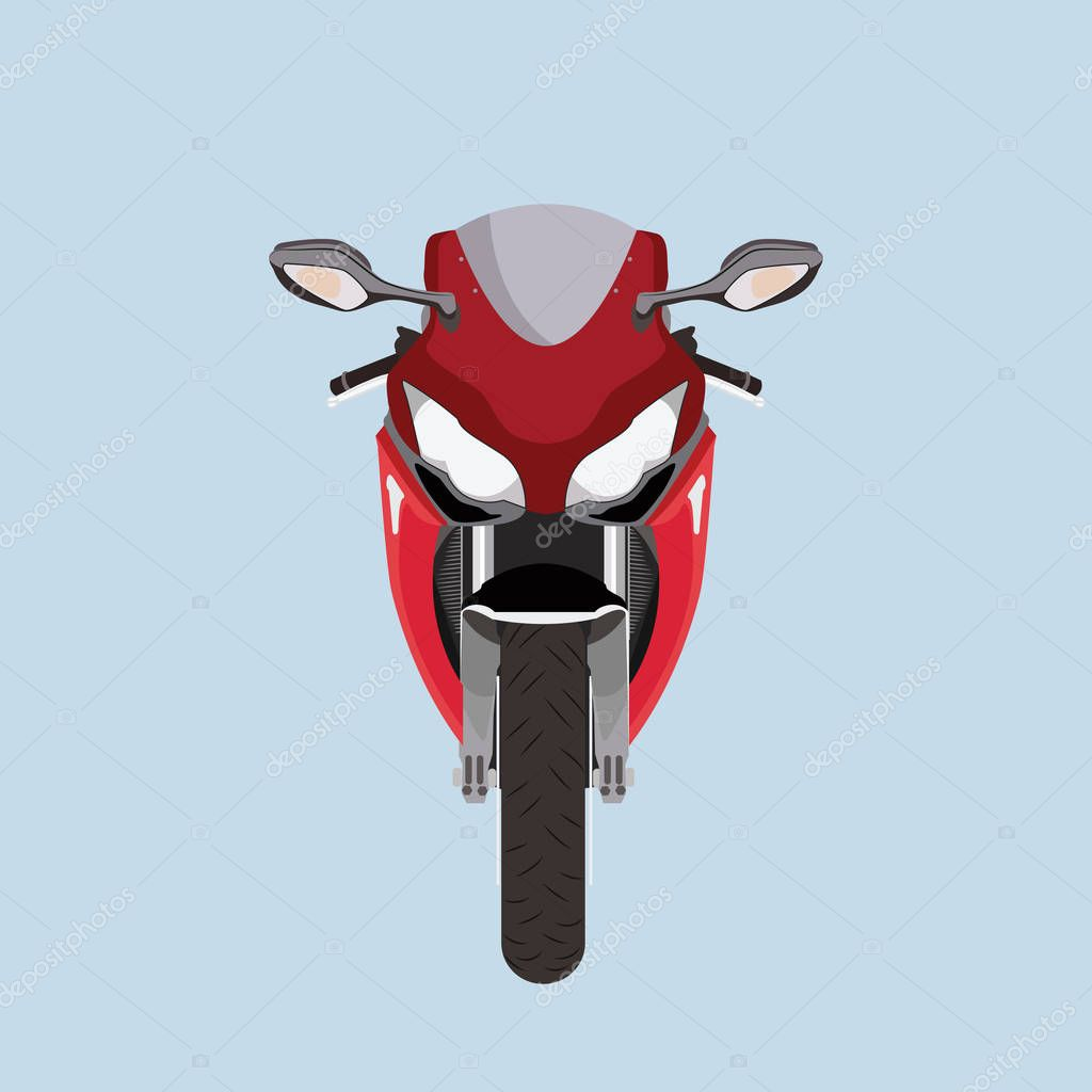 motorcycle front view motorcycle front view stock vector c royalty 129954030 https depositphotos com 129954030 stock illustration motorcycle front view html