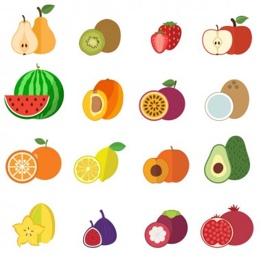 Fruits collection flat design