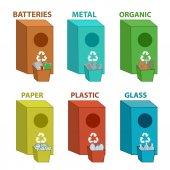 Fotografia Bidoni dei rifiuti riciclare colorate differenti