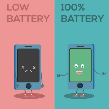 Low battery and full battery characters