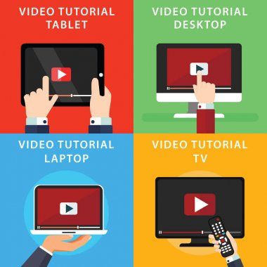 Video tutorials icons
