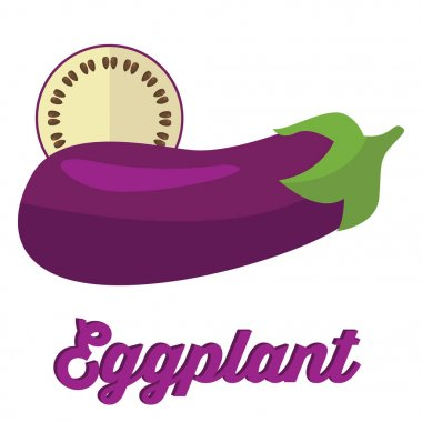 Ripe Eggplant and slice