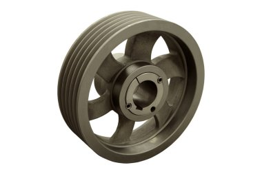 Various newly manufactured belt pulleys