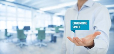 Businessman offer coworking space
