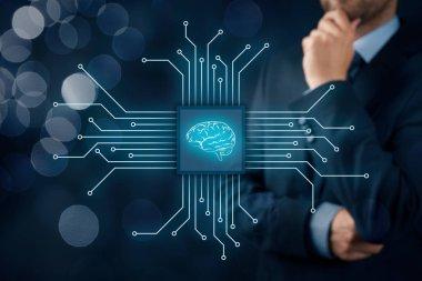 Artificial intelligence (AI)  technologies concept