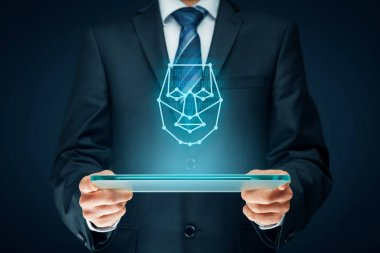 Digital tablet face detection concept