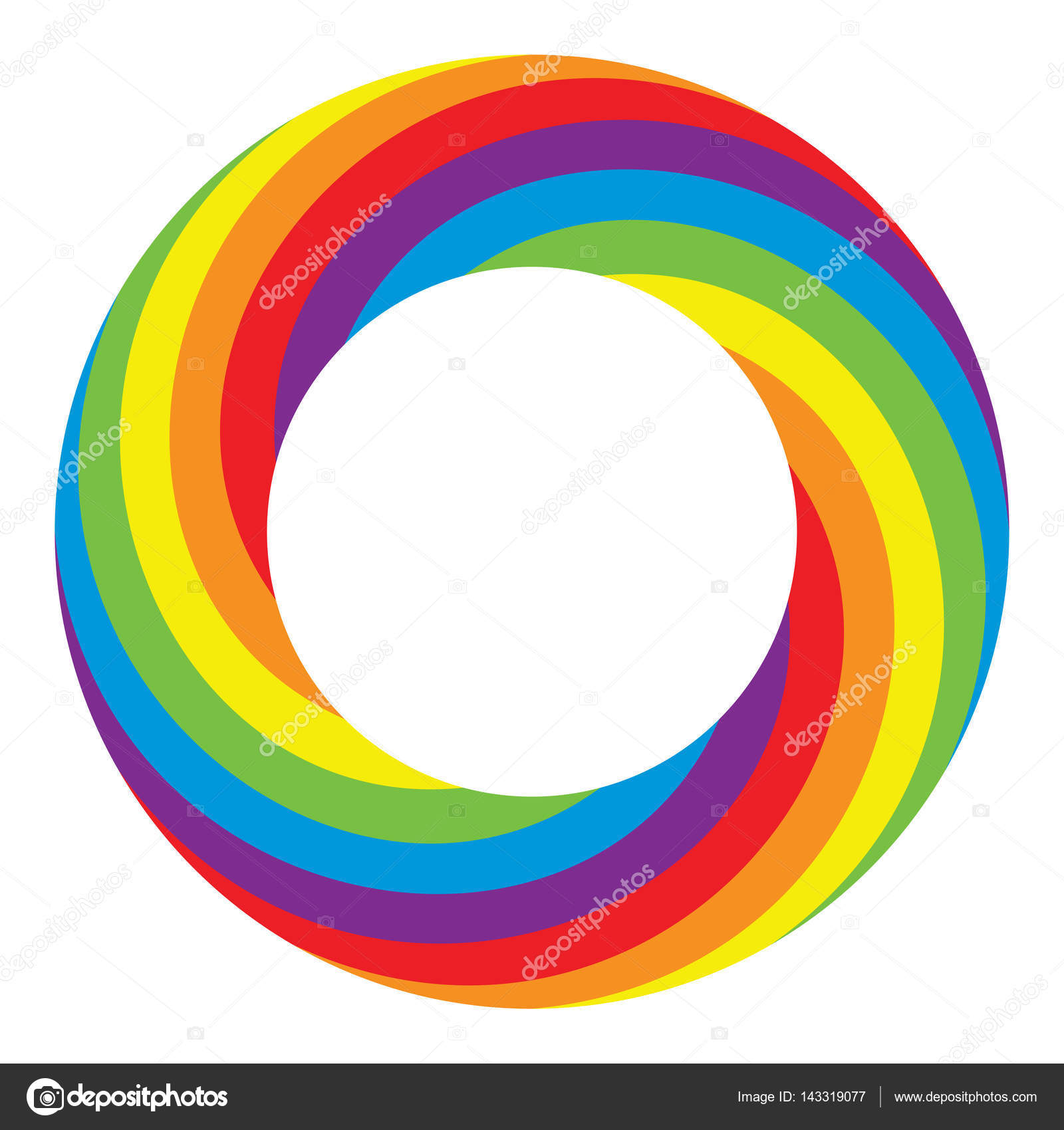 vector rainbow round wheel circle stock vector dmstudio 143319077 rh depositphotos com vector rainbow background vector rainbow background