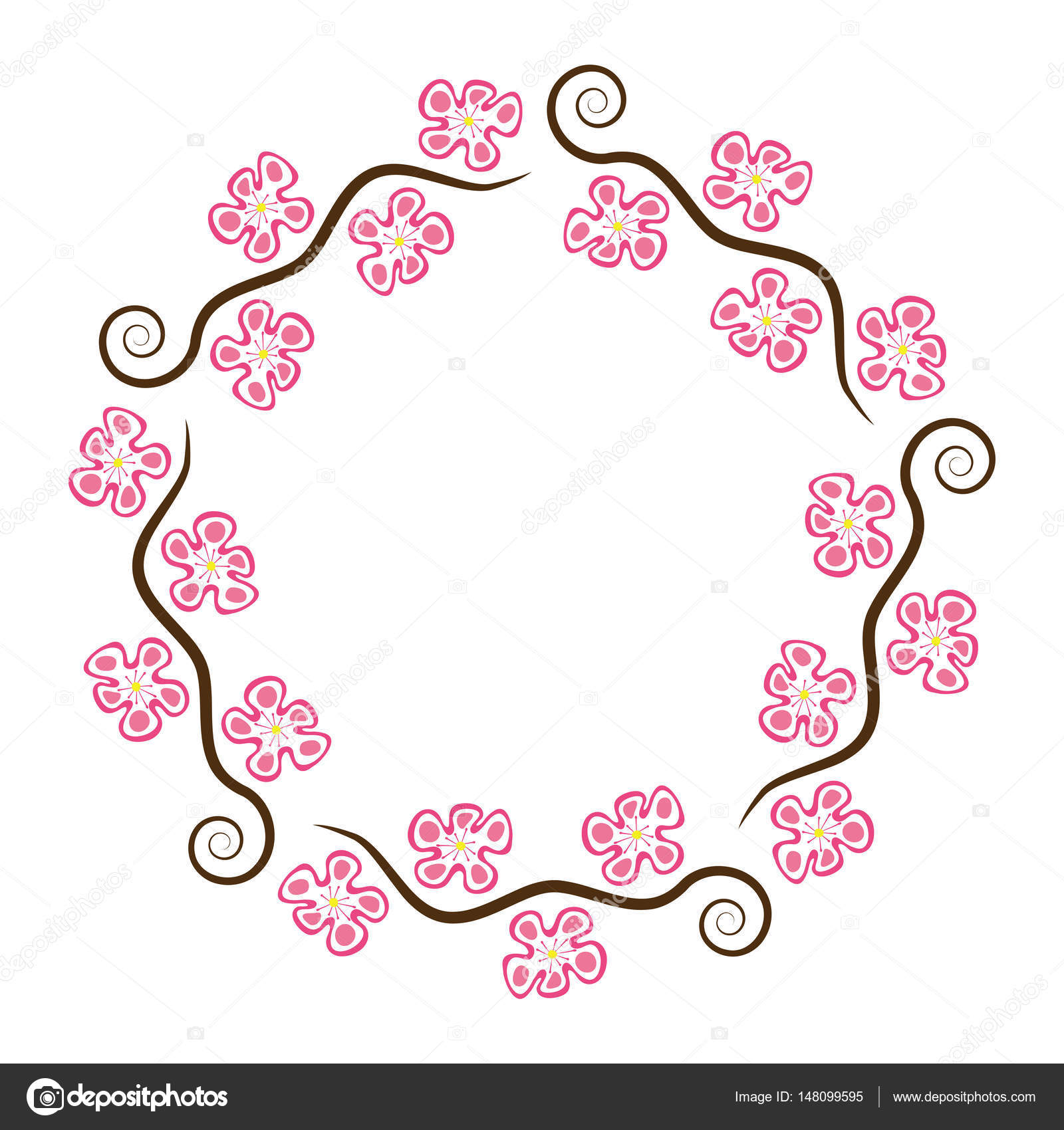 abstrakte Dekoration Vektormuster Kirschblüte — Stockvektor ...