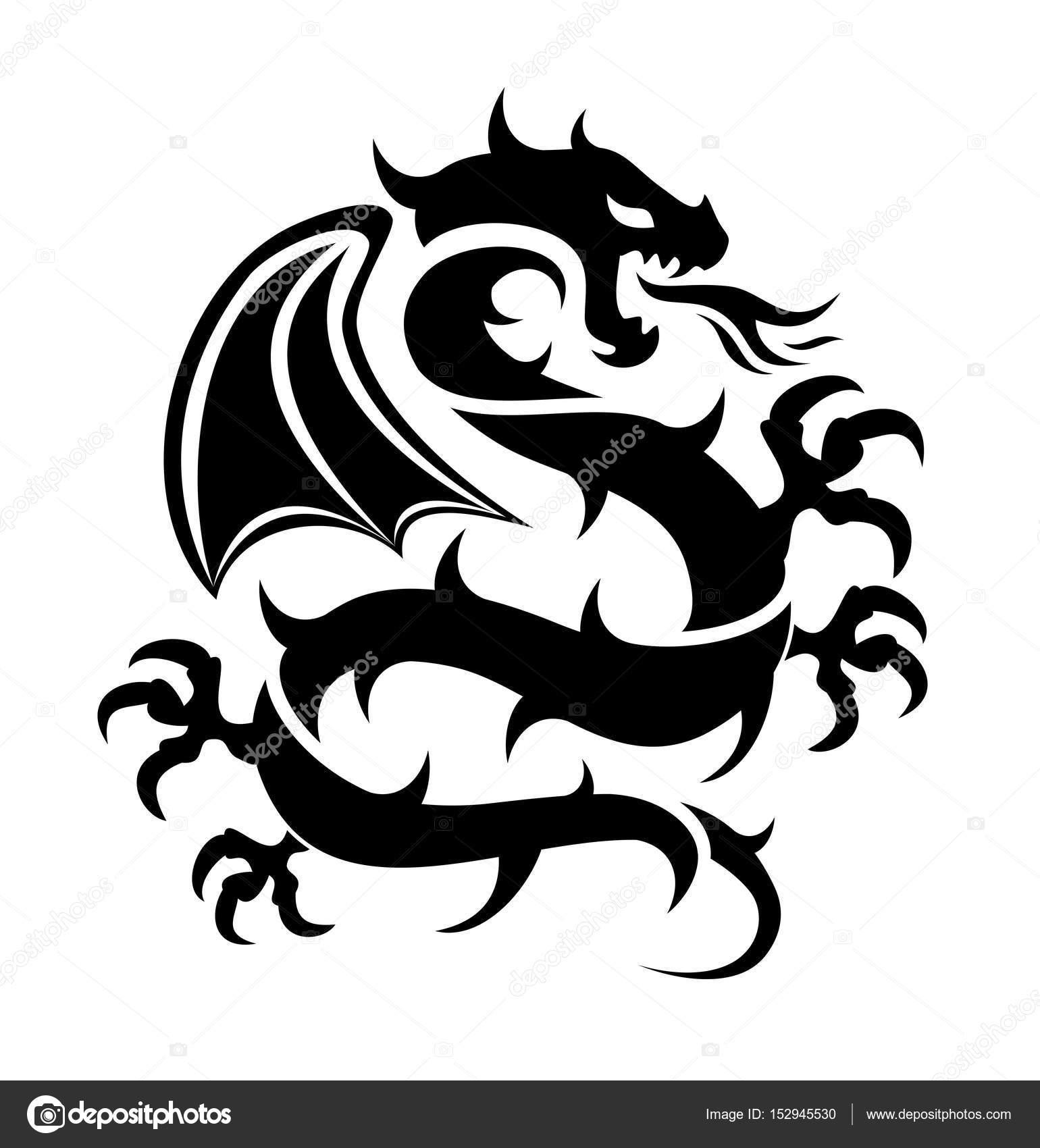 Imágenes Logos De Dragones Chinos Icono De Vector De Vuelo Del