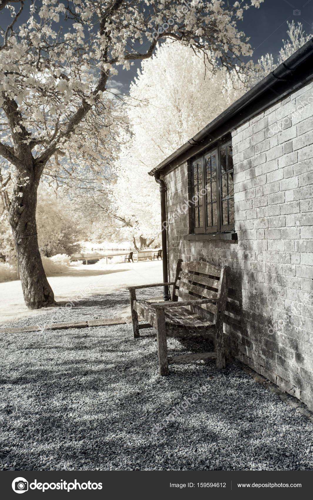 Surreal vibrant alternative colour infrared English countryside ...
