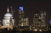 Fotografie Schöne Landschaftsbild der Skyline von London bei Nacht suchen